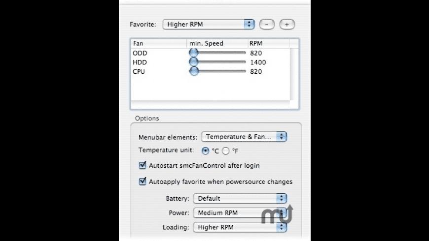 smcFanControl for Mac - review, screenshots