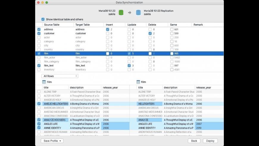 Navicat for MariaDB for Mac - review, screenshots