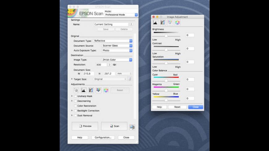 EPSON Scan for Mac - review, screenshots