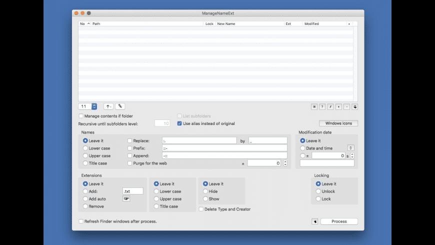 ManageNameExt for Mac - review, screenshots