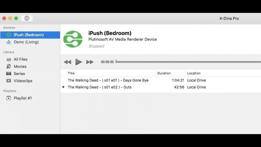X-DLNA for Mac - review, screenshots