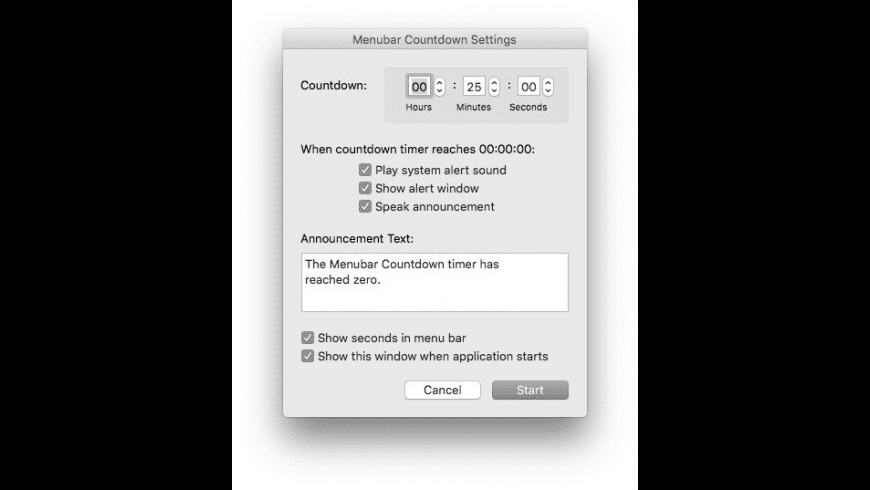 Menubar Countdown for Mac - review, screenshots