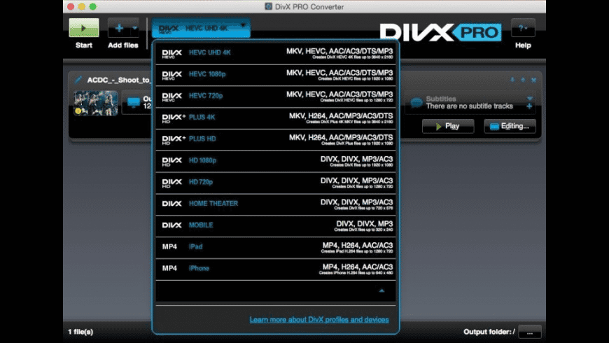 DivX Pro for Mac - review, screenshots