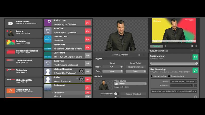 mimoLive for Mac - review, screenshots