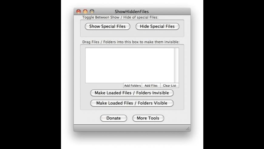ShowHiddenFiles for Mac - review, screenshots