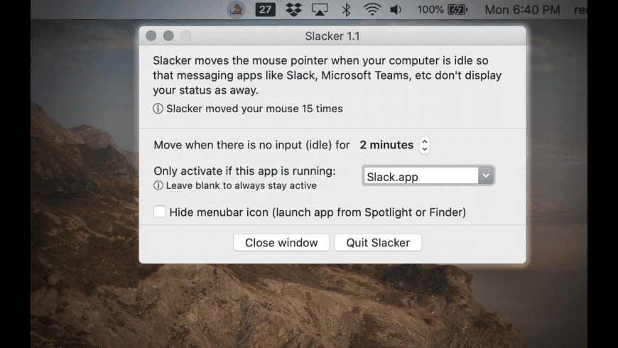 Slacker for Mac - review, screenshots
