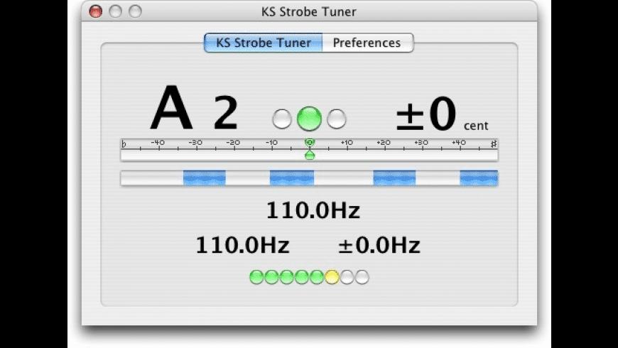 KS Strobe Tuner AU for Mac - review, screenshots