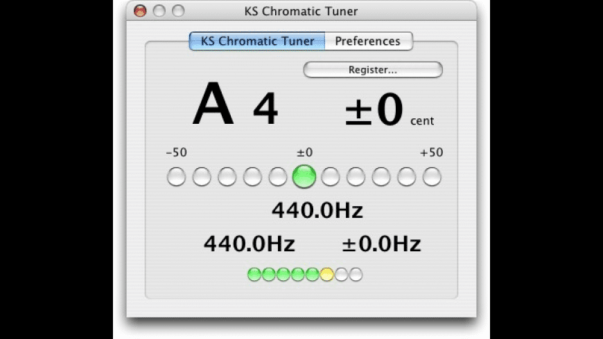 KS Chromatic Tuner AU for Mac - review, screenshots