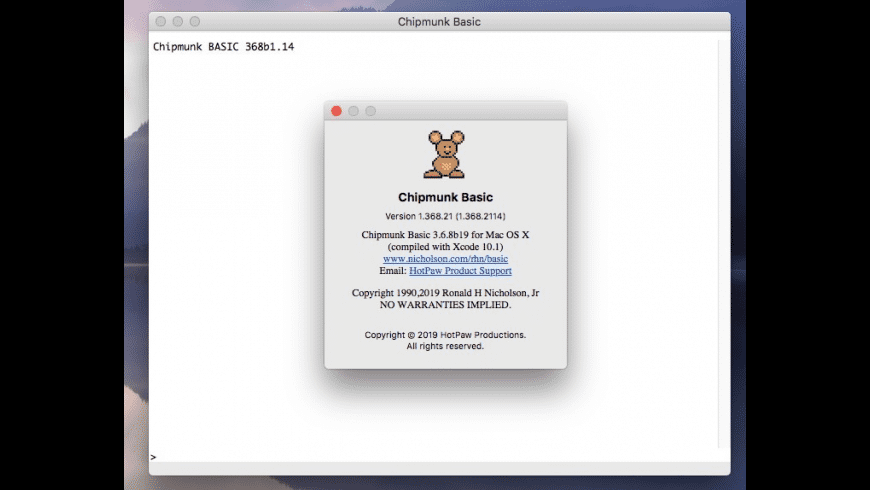 Chipmunk Basic for Mac - review, screenshots
