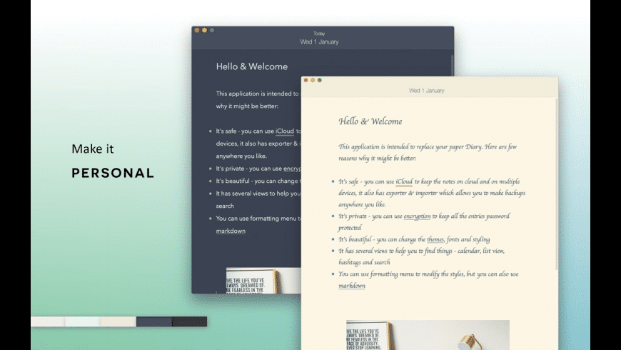 Diarly for Mac - review, screenshots