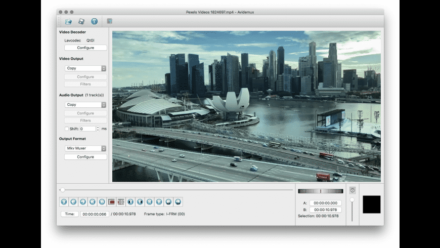 Avidemux for Mac - review, screenshots