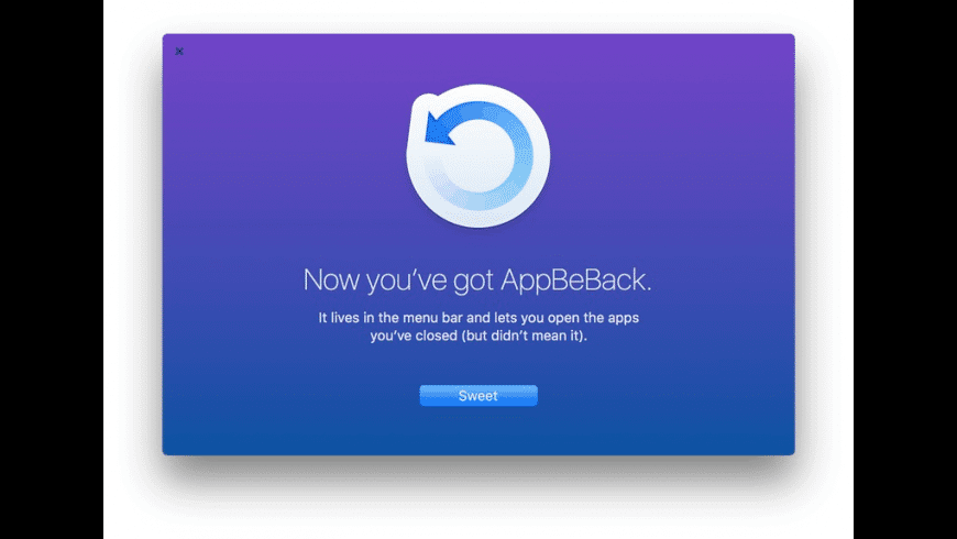 AppBeBack for Mac - review, screenshots