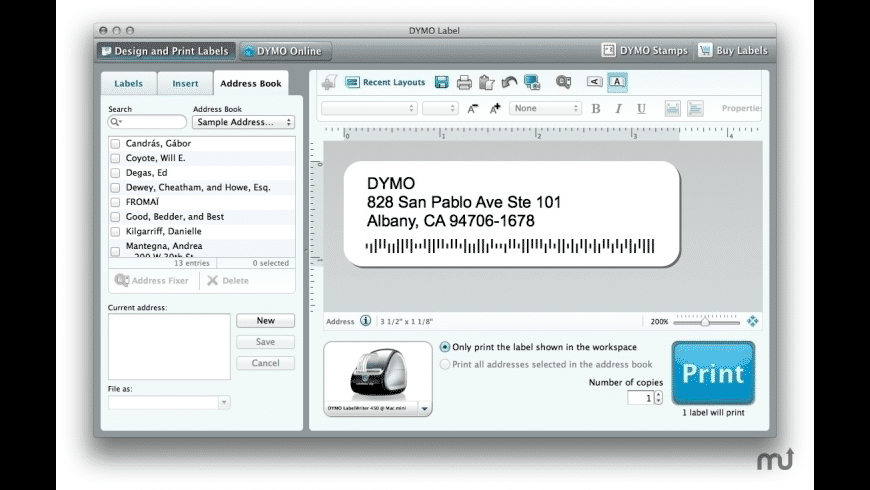 DYMO Labelwriter for Mac - review, screenshots