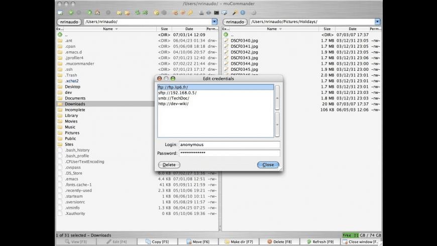 muCommander for Mac - review, screenshots
