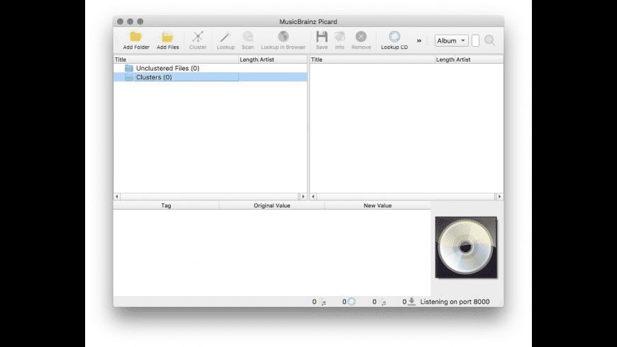 MusicBrainz Picard for Mac - review, screenshots