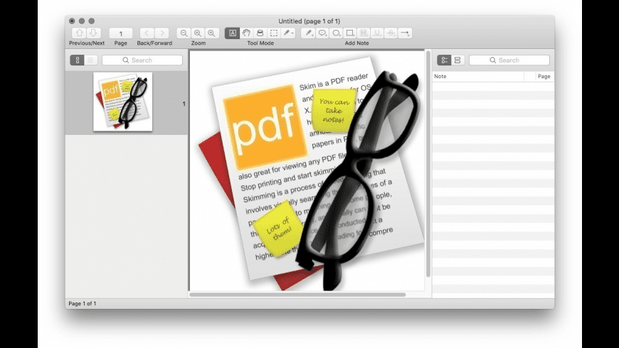 Skim for Mac - review, screenshots