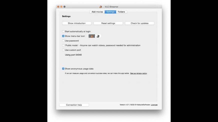 VLC Streamer for Mac - review, screenshots
