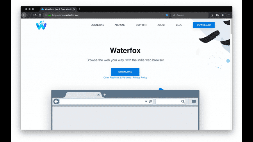 Waterfox for Mac - review, screenshots