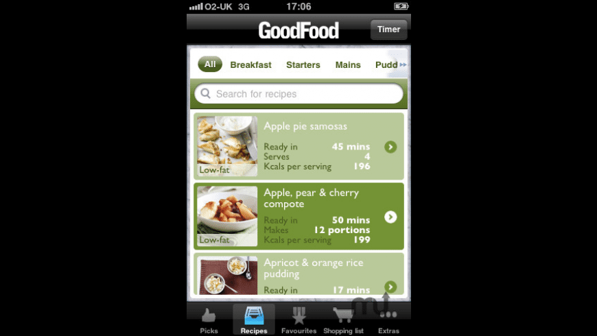 Good Food Healthy Recipes for Mac - review, screenshots