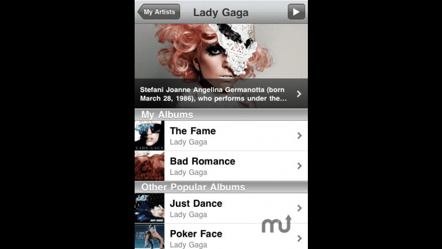 My Artists for Mac - review, screenshots