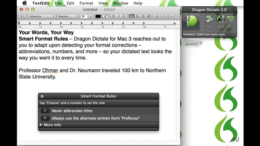 Dragon Dictate for Mac - review, screenshots