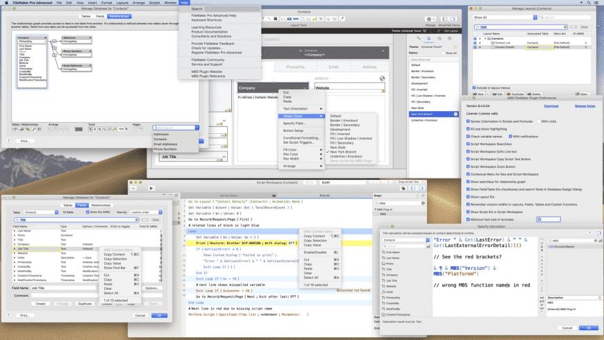 MBS Filemaker Plugin for Mac - review, screenshots