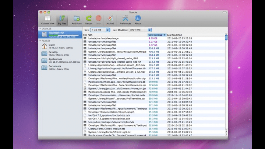 Spacie for Mac - review, screenshots