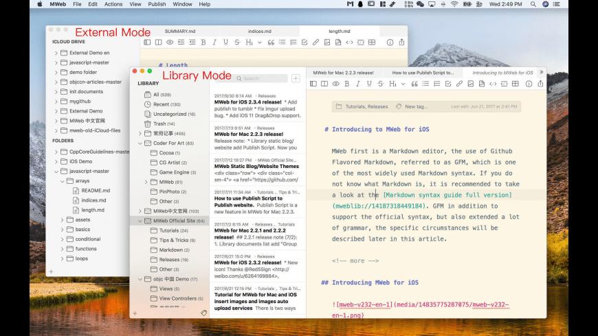MWeb for Mac - review, screenshots