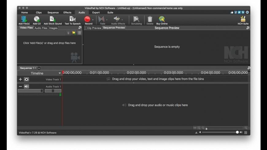 VideoPad for Mac - review, screenshots