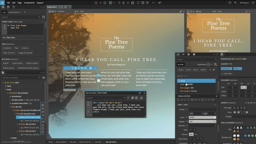 Pinegrow for Mac - review, screenshots