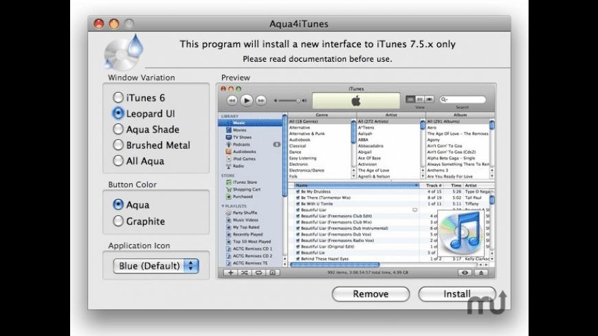 Aqua4iTunes for Mac - review, screenshots