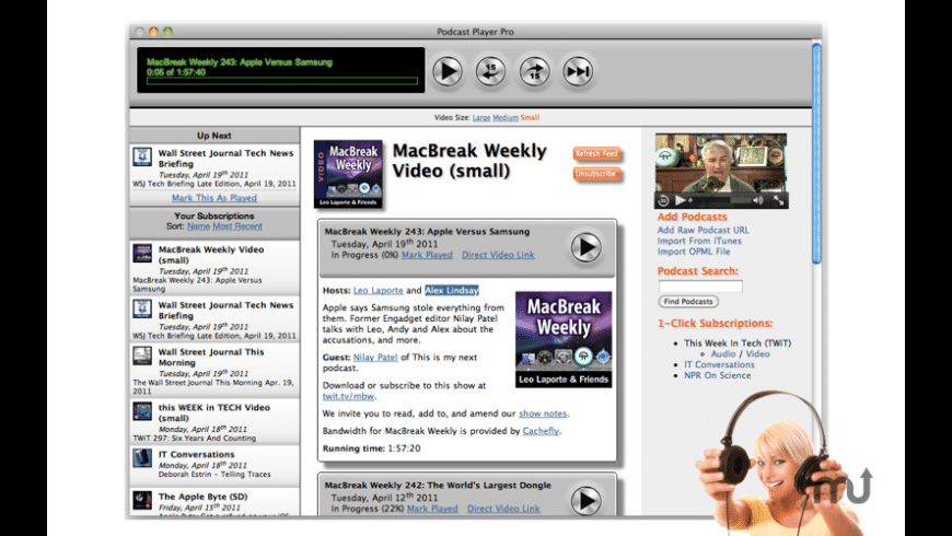 Podcast Player Pro for Mac - review, screenshots