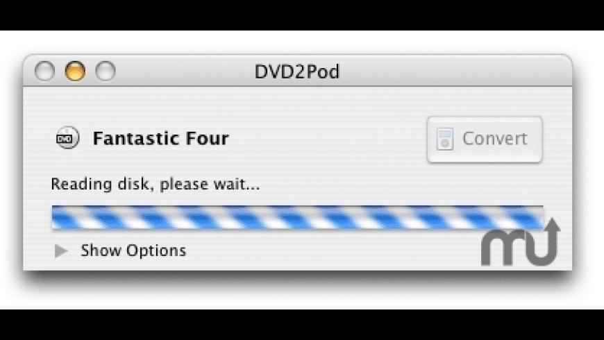 DVD2Pod for Mac - review, screenshots