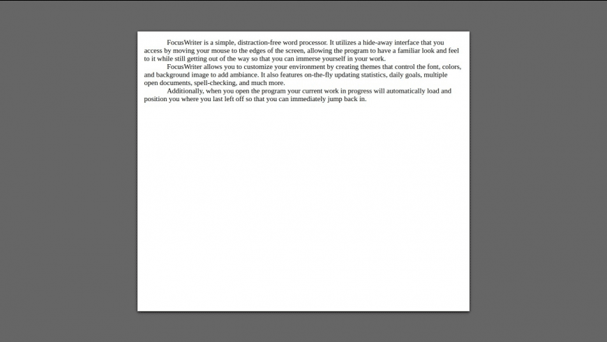 FocusWriter for Mac - review, screenshots