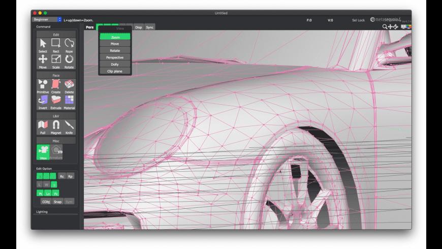 Metasequoia for Mac - review, screenshots