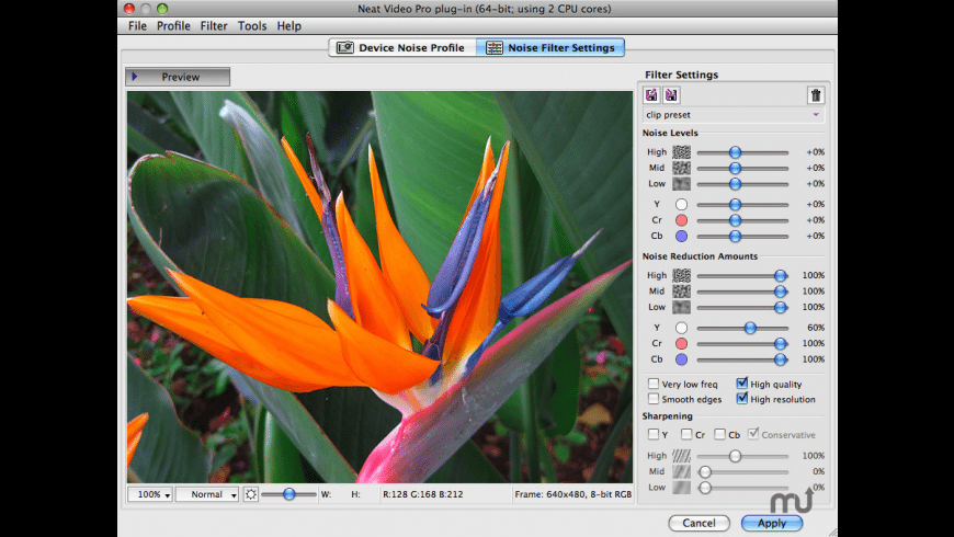 Neat Video OpenFX for Mac - review, screenshots