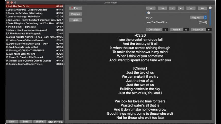 LyricsPlayer for Mac - review, screenshots