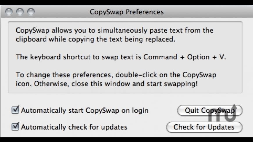 CopySwap for Mac - review, screenshots