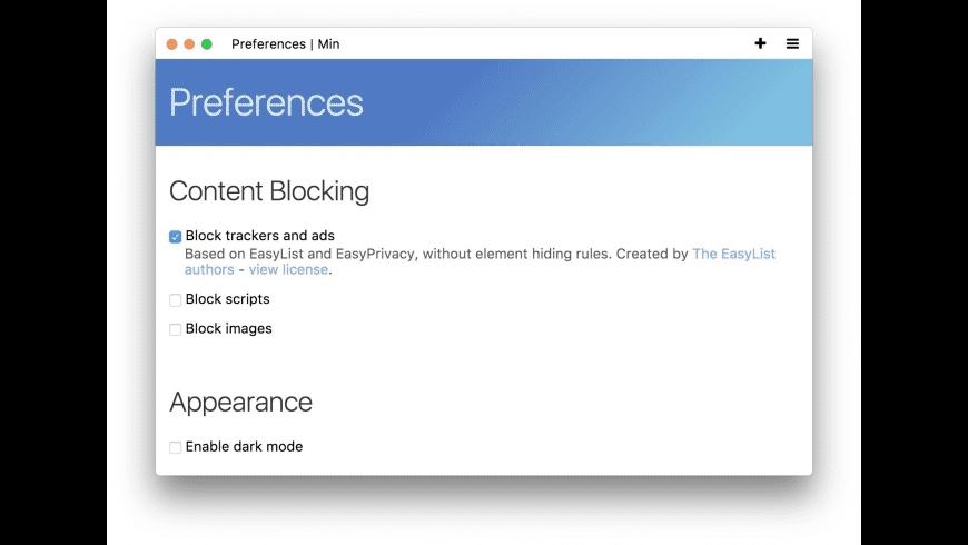 Min for Mac - review, screenshots