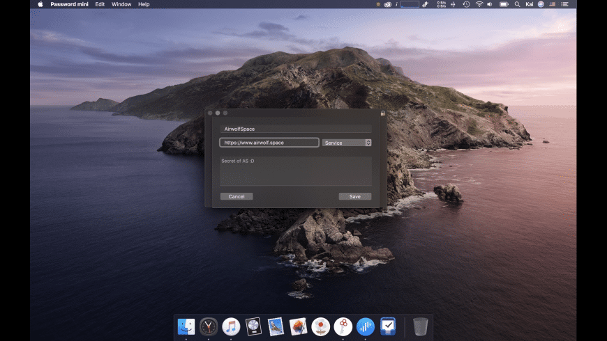 Password mini for Mac - review, screenshots