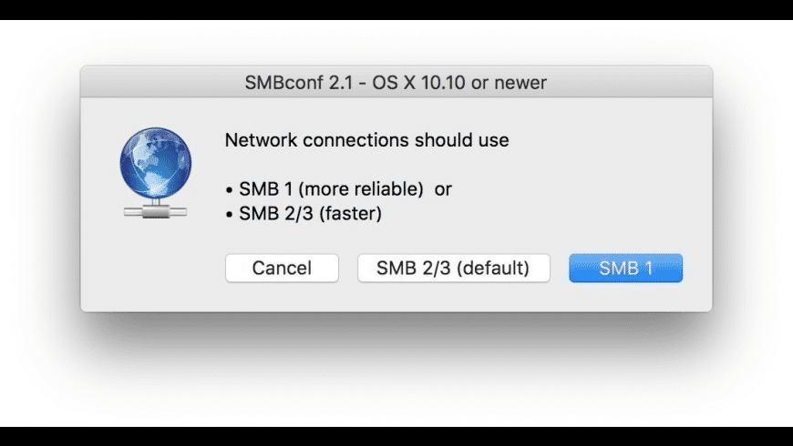 SMBconf for Mac - review, screenshots
