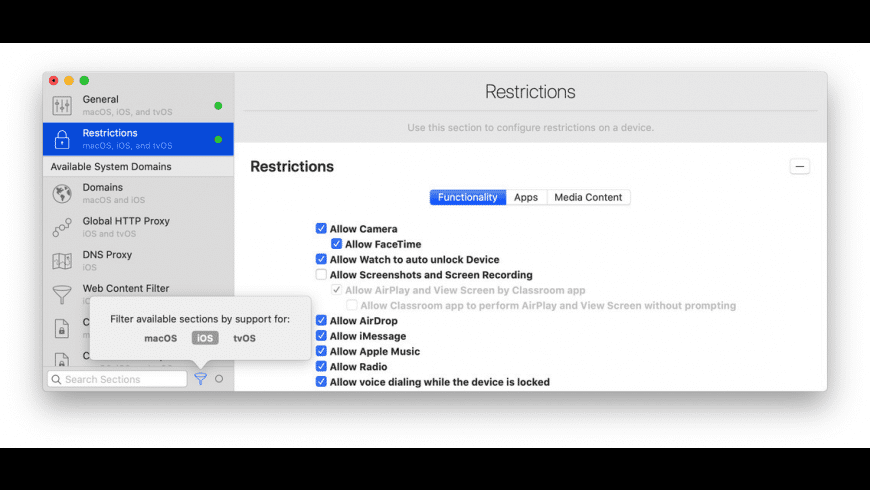 iMazing Profile Editor for Mac - review, screenshots