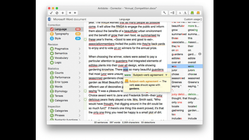 Antidote for Mac - review, screenshots