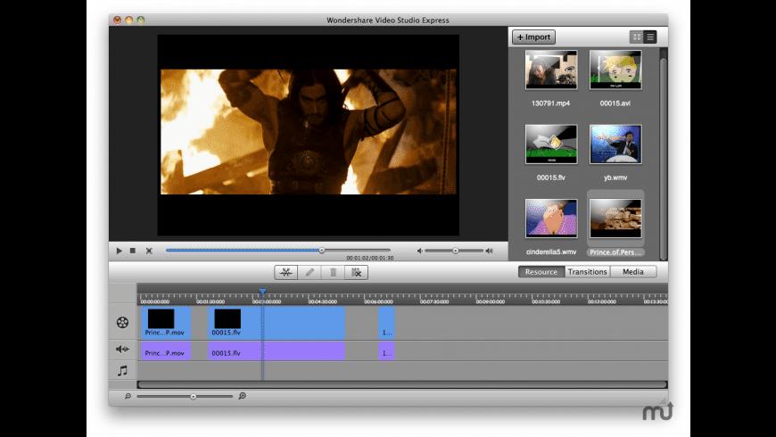 Wondershare Video Studio Express for Mac - review, screenshots
