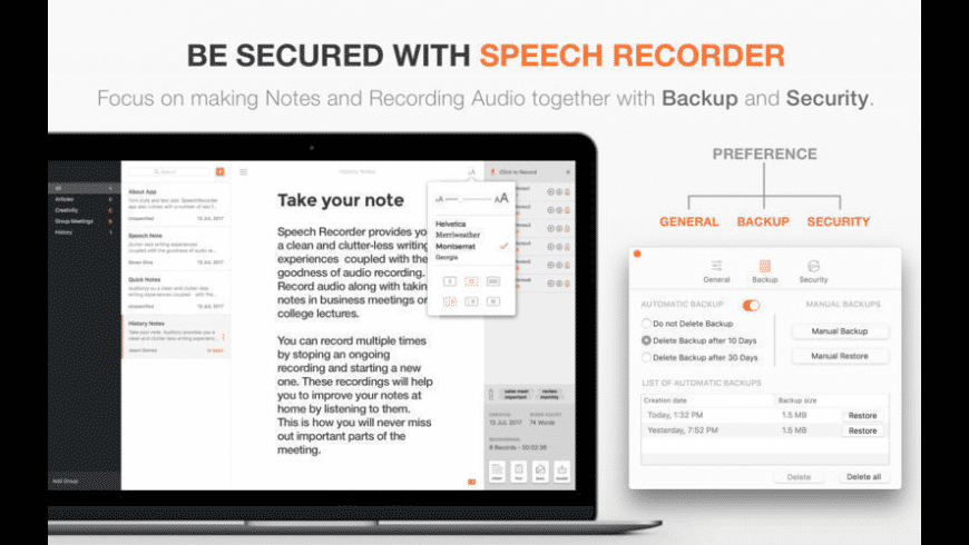 Speech Recorder for Mac - review, screenshots