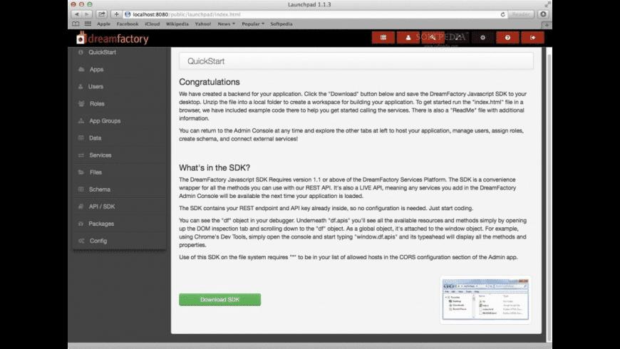 Bitnami DreamFactory for Mac - review, screenshots