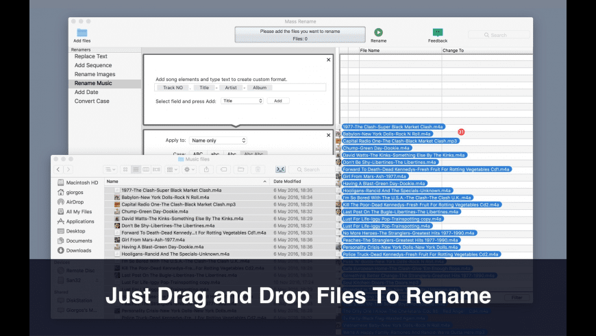 Mass Rename for Mac - review, screenshots