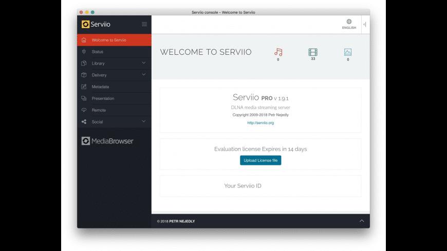 Serviio for Mac - review, screenshots