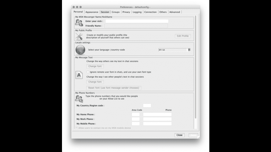 aMSN for Mac - review, screenshots