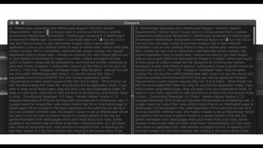 Website Watchman for Mac - review, screenshots